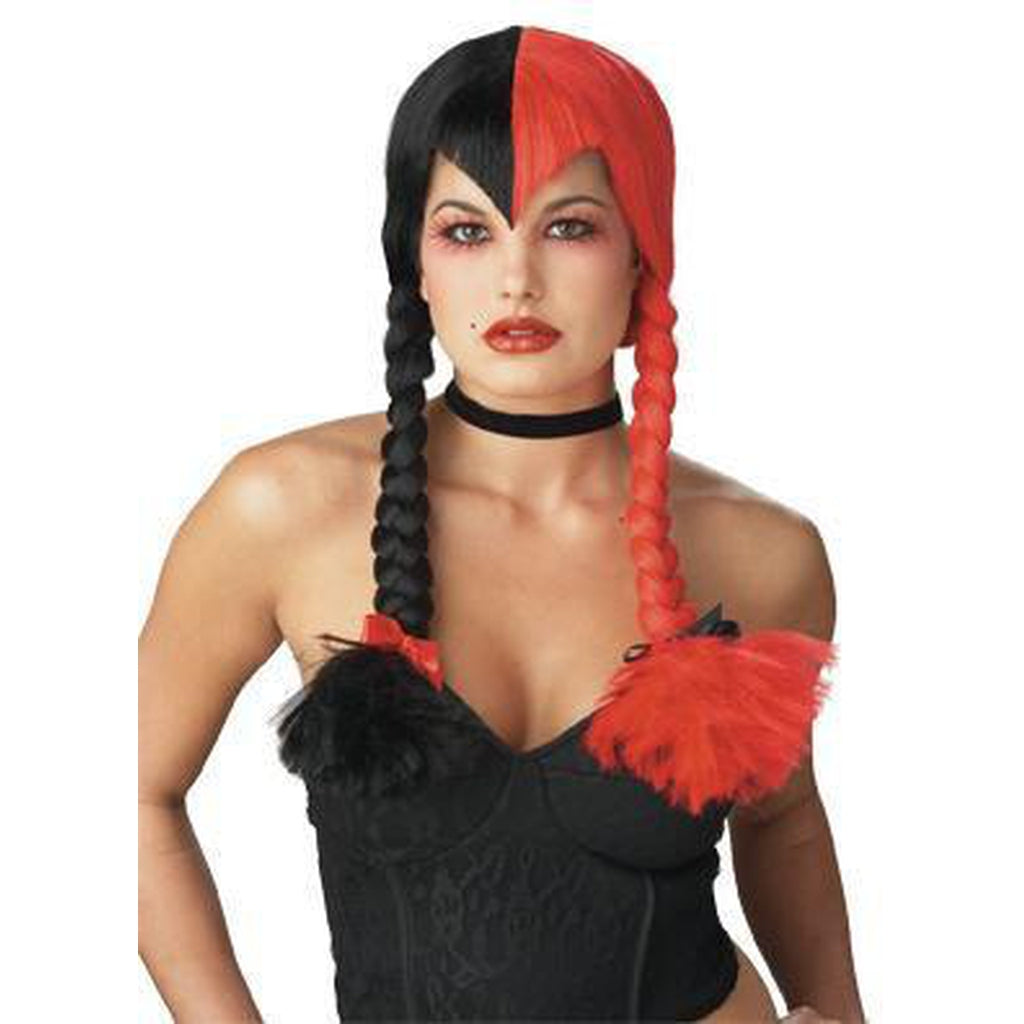Black & Red Schizo Gothic Wig