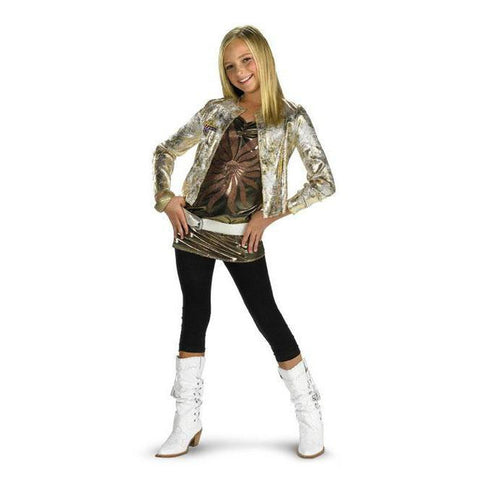 Hannah Montana Gold Jacket Girl's Costume