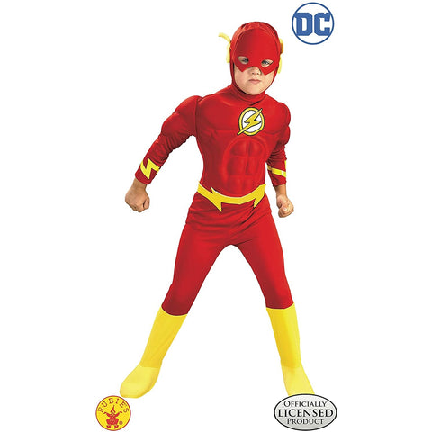 The Flash Deluxe Muscle Chest Boy's Costume