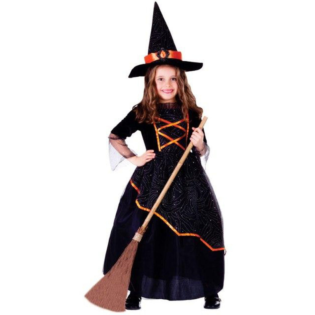 Black & Orange Witch Girl's Costume