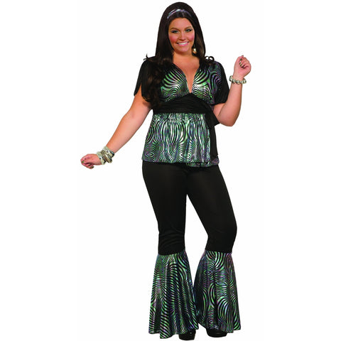 Disco Dancer Women's Plus Size Costume