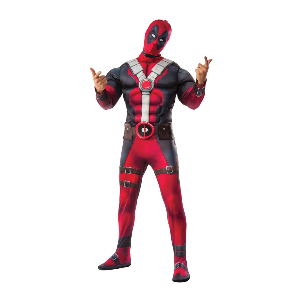 Deadpool Deluxe Muscle Chest Teen Boy's Costume