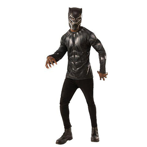 Deluxe Black Panther Men's Costume