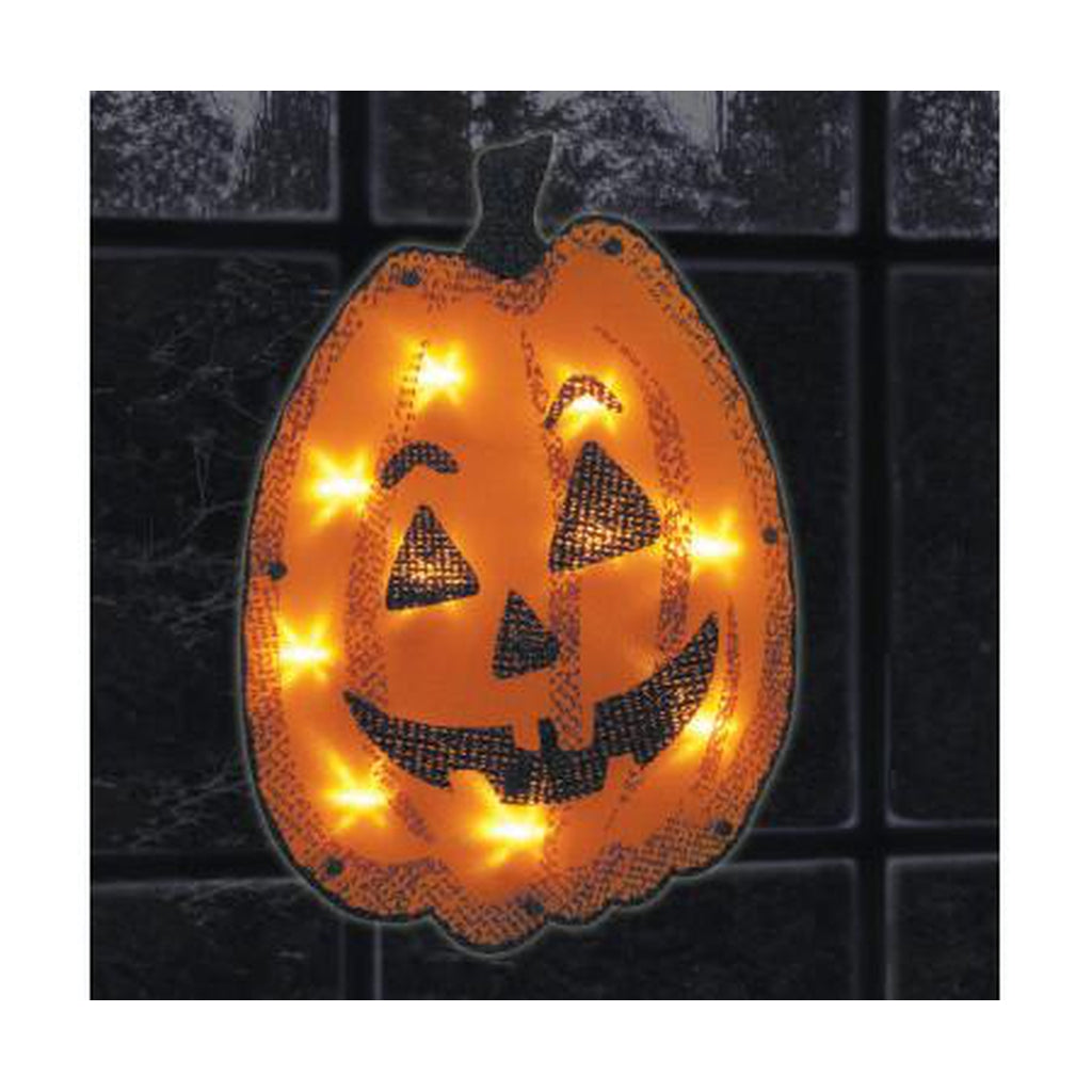 Lighted Shimmering Window Frame-Jacky the Pumpkin