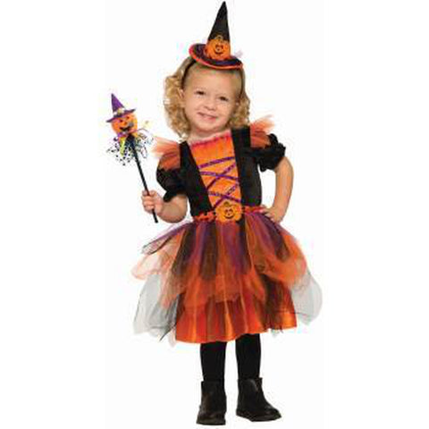 Pumpkin Witch Toddler Girl Costume