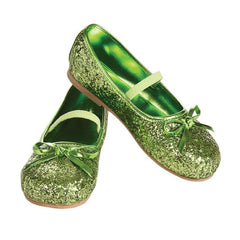 Green Glitter Girl's Shoes