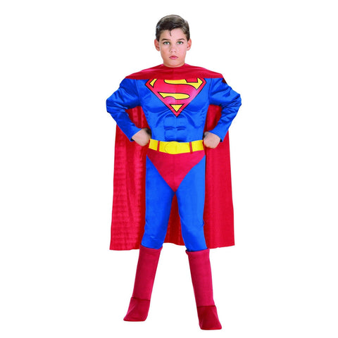 Superman-Deluxe Muscle Chest Boy's Costume