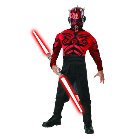 Deluxe Muscle Chest Darth Maul Boy's Costume