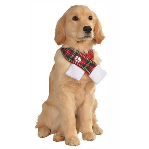 Pet Costume - Christmas Plaid Pet Scarf