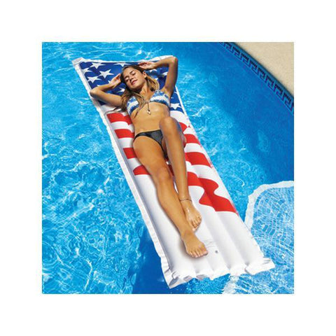 "78"" Inflatable American Flag Swimming Pool Mattress"