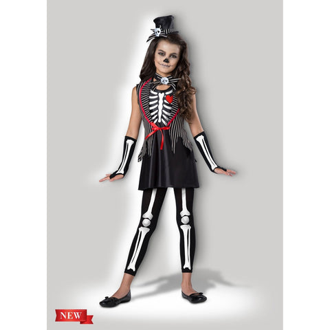 Skeleton Cutie Girl's Costume