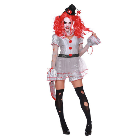 Wicked Clown Teen Girl's Costume