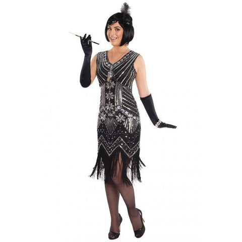 Silver Screen Flapper Women's Costume