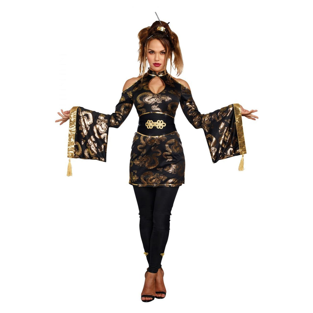 "Golden Geisha Women""s Costume"