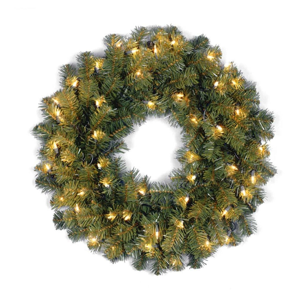 "24"" Kincaid Spruce Wreath w/ Lights"