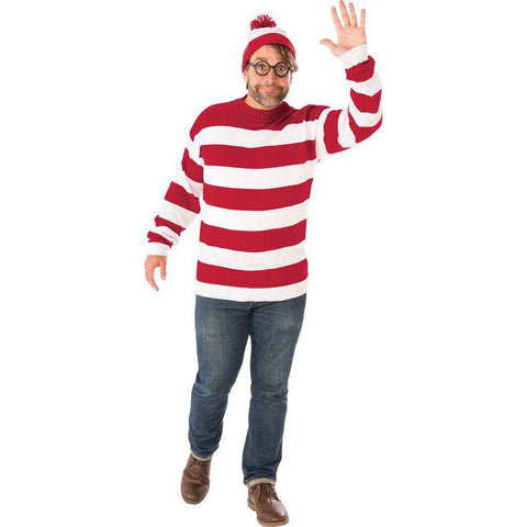 Where's Waldo Men's Plus Size Costume