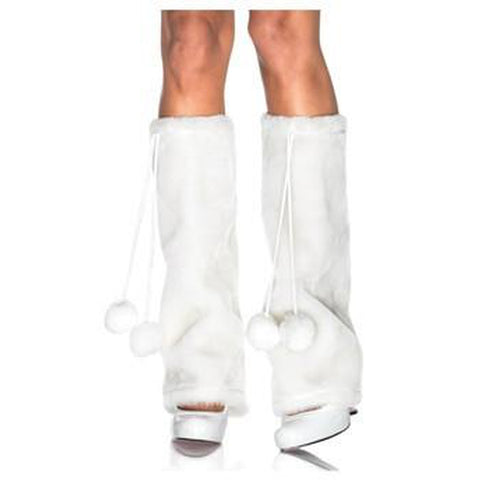 Snowy Polar Bear Leg Warmers