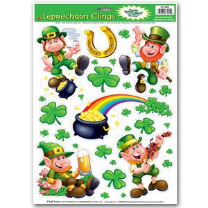 Leprechaun Window Clings
