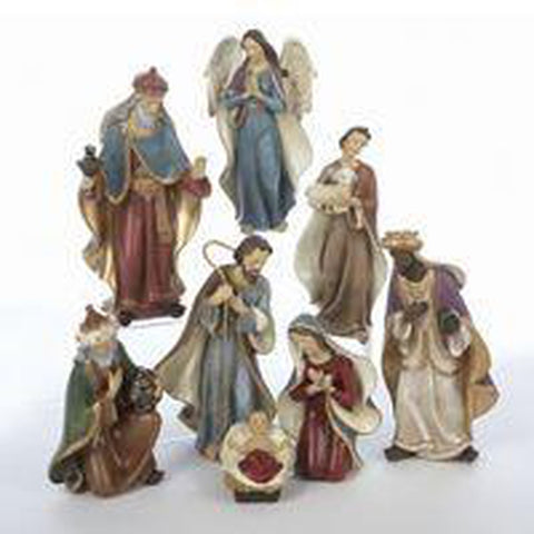 8 pc Nativity Figurine Set
