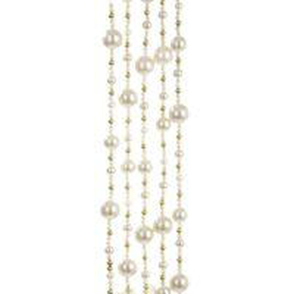6' Ivory & Gold Bead Garland