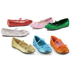 Girl's Glitter Ballet Slippers