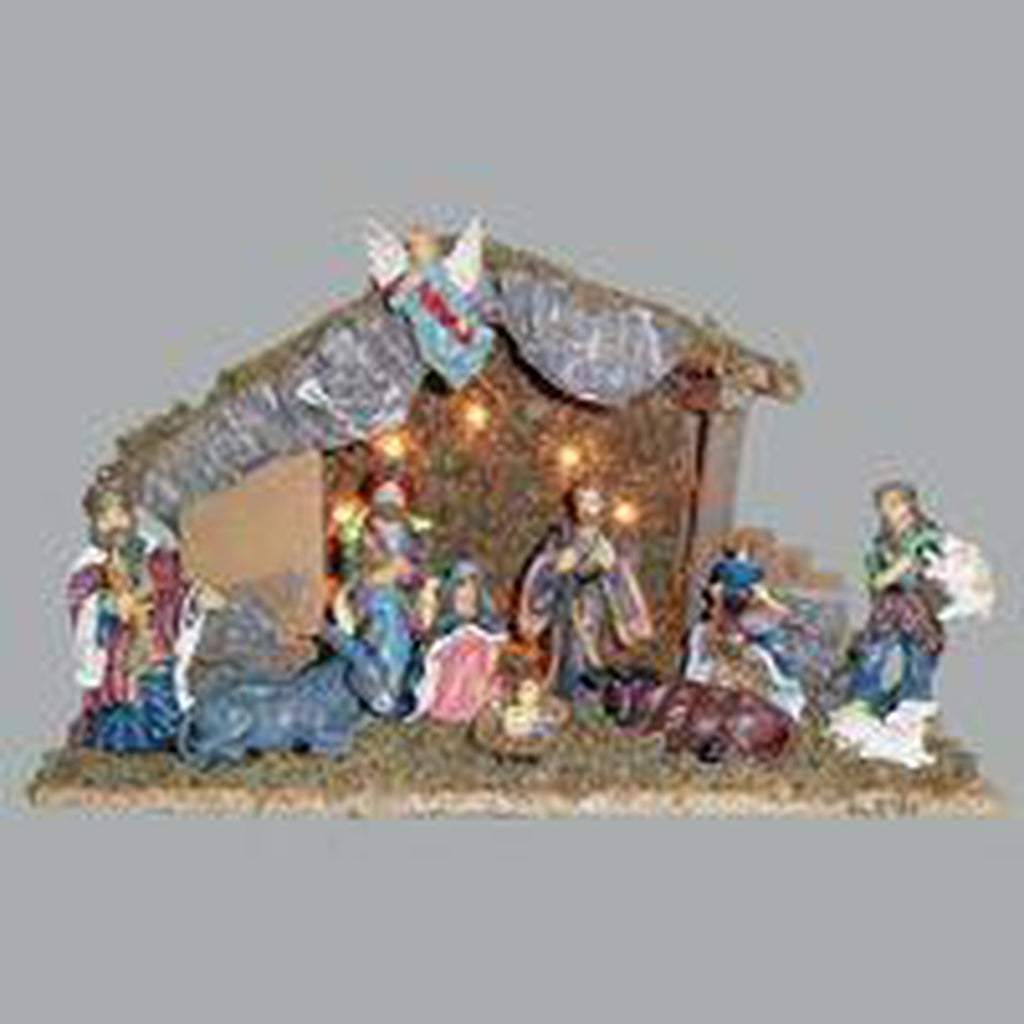 11 pc Nativity Set w/ Stable