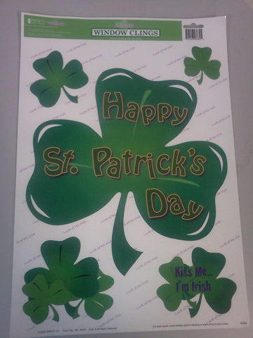 Happy St. Patrick's Day Window Cling