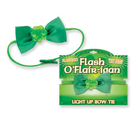 Flashing Shamrock Bow Tie