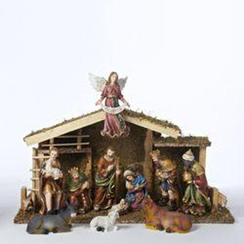 12 pc Nativity Set w/ Stable