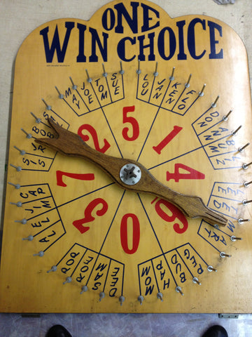 Wall Mounted Wheel (Used) One Wins Choice