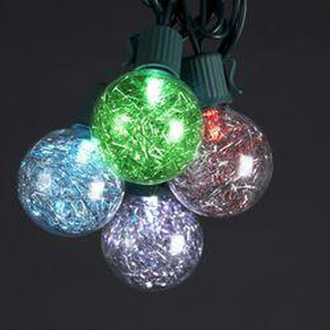 LED Tinsel Ball Light Set