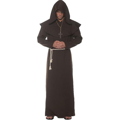 Monk Robe Brown Men's Costume