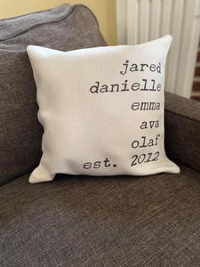 Family Personalized Pillow Shams