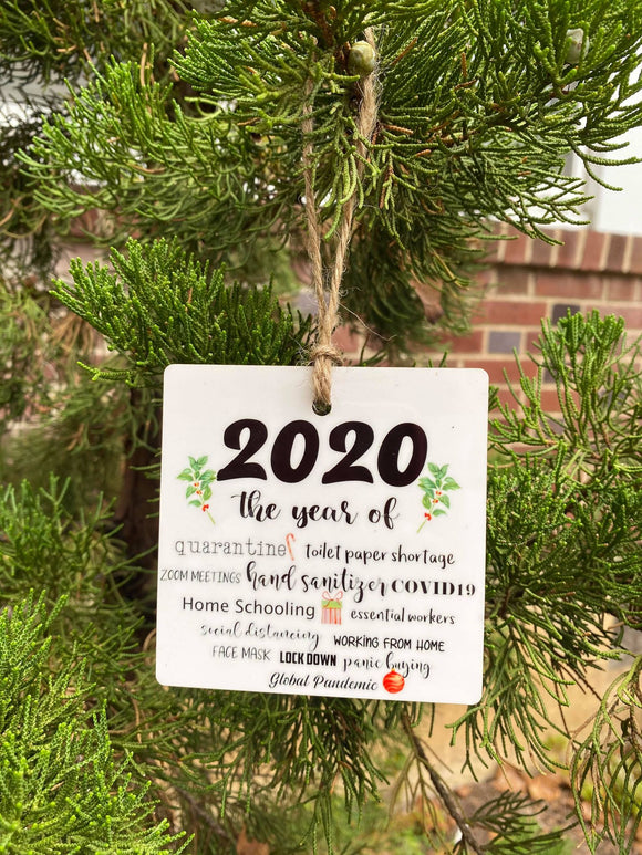 2020 The year of Quarantine Ornament