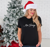 Mrs. Scrooge Black Short Sleeve tee