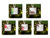 Square Personalized Ornaments
