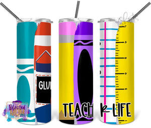 Teacher life brushstrokes Tumbler Stainless Steel Tumbler 20 oz