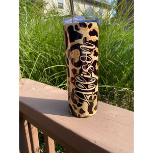 Leopard  Stainless Steel  Tumbler 20 oz