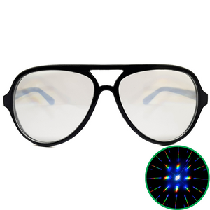 Black Aviator Diffraction Glasses