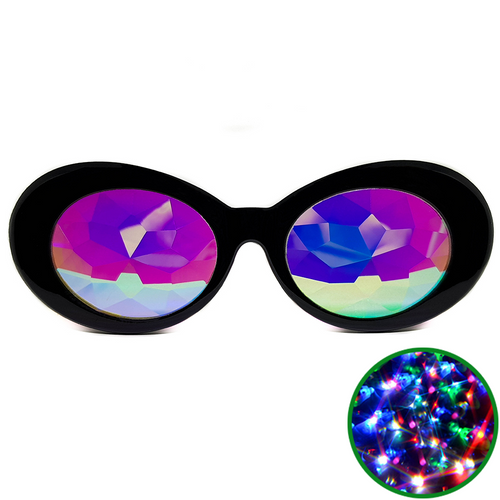 Black Clout Kaleidoscope Glasses