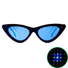 Load image into Gallery viewer, Blue Cat Eye Diffraction Glasses