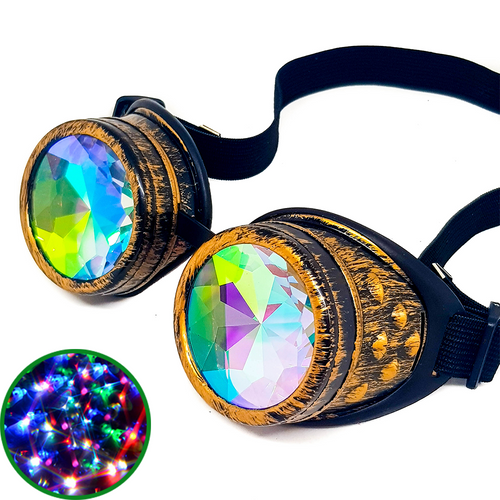 Brushed Gold Kaleidoscope Goggles V2