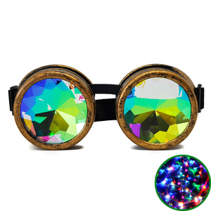 Brushed Gold Kaleidoscope Goggles