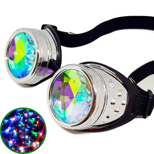 Chrome Kaleidoscope Goggles V2