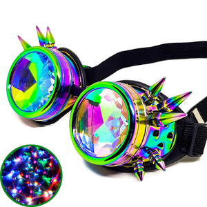 Psychedelic Steampunk Kaleidoscope Goggles V2