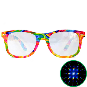 Tie-Dye Wayfarer Diffraction Glasses