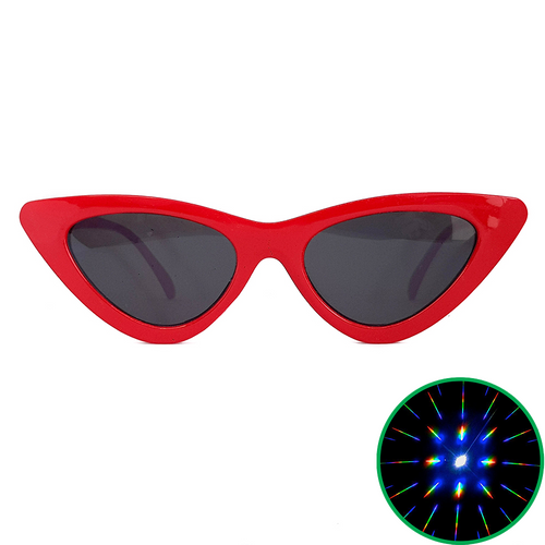 Red Cat Eye Diffraction Glasses