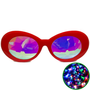 Red Clout Kaleidoscope Glasses