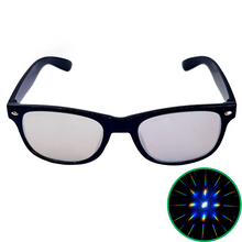 Load image into Gallery viewer, Silver Wayfarer Diffraction Glasses