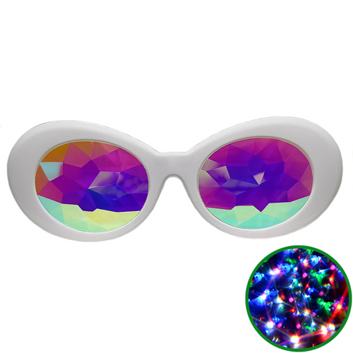 White Clout Kaleidoscope Glasses